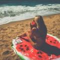 Пляжное полотенце покрывало Арбуз оптом