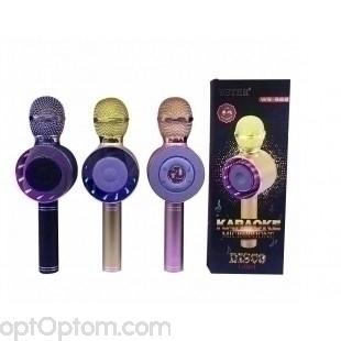 Караоке микрофон с колонкой и подсветкой ws668 оптом