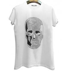 Стильная мужская футболка с черепом оптом