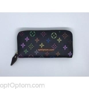 Женский кошелек с разноцветным принтом оптом