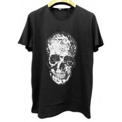 Темная мужская футболка с черепом оптом