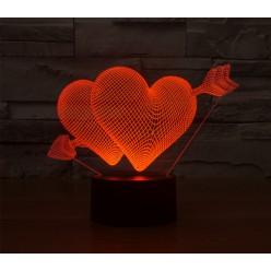 3D светильник в виде сердца CREATIVE Vizualization lamp оптом