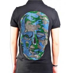 Мужская футболка с цветным черепом оптом