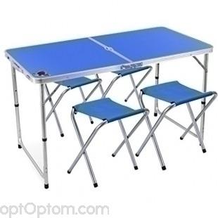 Раскладной стол для пикника и 4 стула FOLDING TABLE оптом