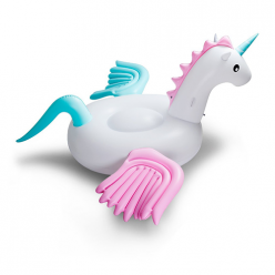 Надувной матрас плот Единорог с крыльями 240х240х120см оптом