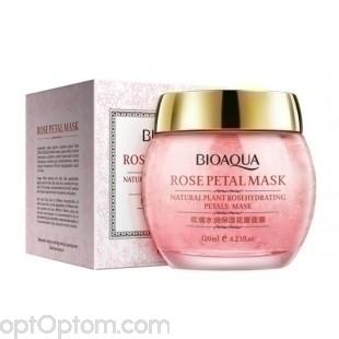 Ночная маска с лепестками роз Rose Petal BioAqua оптом
