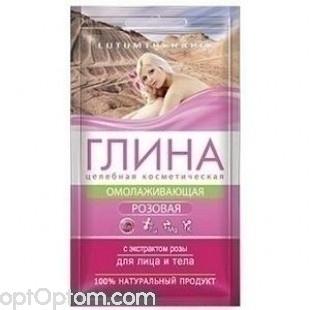 Косметическая розовая глина с экстрактом розы LUTUMTHERAPIA оптом