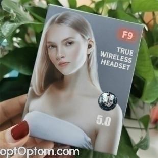 Беспроводные наушники F9 True wireless headset 5.0 оптом