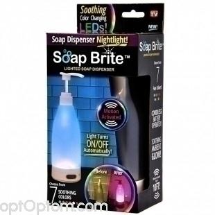 Дозатор для мыла с подсветкой Brite диспенсер оптом