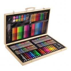 Набор художника 180 предметов в деревянном кейсе оптом