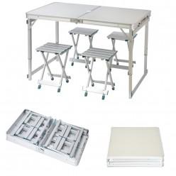 Раскладной туристический стол и 4 стула BY-8609 оптом