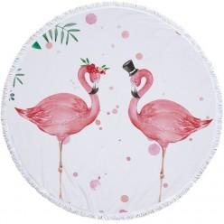 Пляжное покрывало полотенце 2 фламинго оптом
