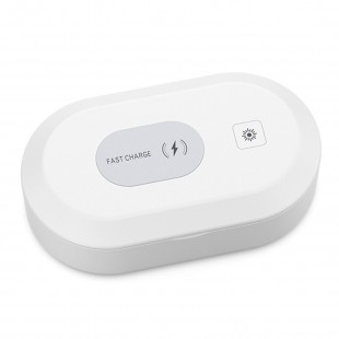 Phone sanitizer with wireless charging