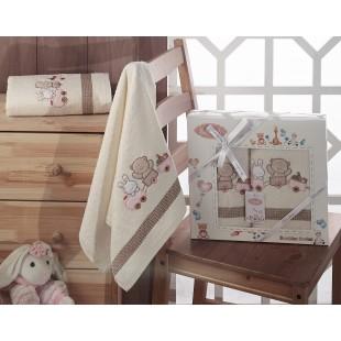 Комплект полотенец детский BAMBINO-TRAIN 50x70-70х120 см