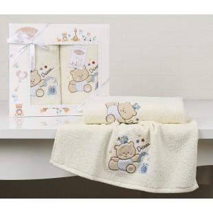 Комплект полотенец детский BAMBINO-BEAR 50x70-70х120 см