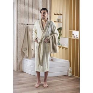 Набор халат махровый с полотенцем ADRA 1/3 (L/XL) оптом