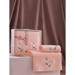 Комплект махровых полотенец VALDI 50x90-70х140 см