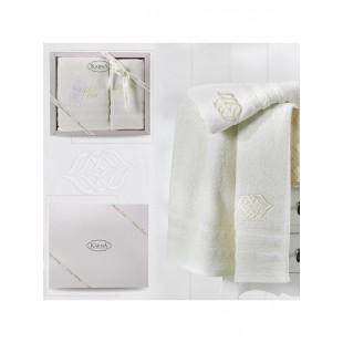 Комплект махровых полотенец DERIN 50x90-70х140 см оптом
