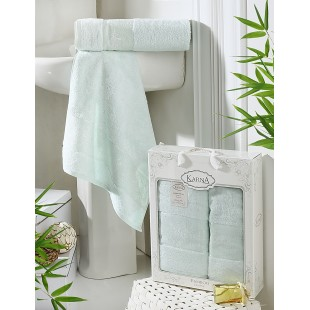 "Комплект полотенец бамбук ""KARNA"" PANDORA 50х90-70х140 1/2 оптом"