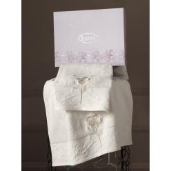 Комплект махровых полотенец LILYAN 50x90-70х140 см