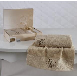 Комплект махровых полотенец VIOLA 50x90-70х140 см оптом