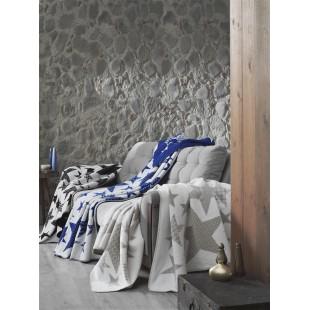 "Плед хлопок ""STARS"" 130x170 см (голубой)"