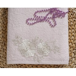"Полотенце махровое в коробке ""IRYA"" c вышивкой FLEUR (85x150) см 1/1"