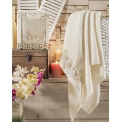 """Полотенце махровое в коробке """"IRYA"""" c вышивкой PERCEIVE (85x150) см 1/1"""