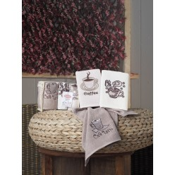 Кухонные полотенца махровое CAFE PRIMA 30х50 см 1/3