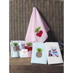 Кухонные полотенца махровые FRUCTUS 30х50 см 1/3 оптом