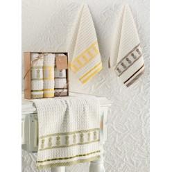 Кухонные полотенца махровые жаккард PINEAPPLE 30x50 см 1/3