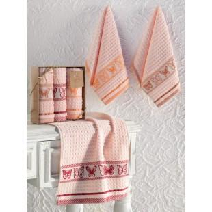 Кухонные полотенца махровые жаккард BUTTERFLY 30x50 см 1/3