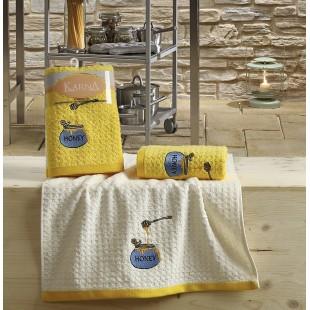"Кухонные полотенца махровые ""KARNA"" LEMON 45x65 1/2 Желтый"