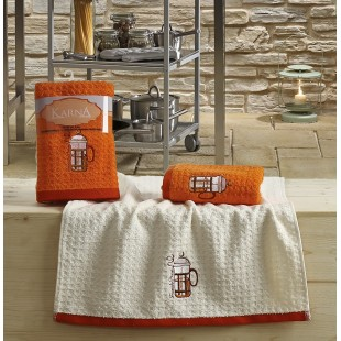 Кухонные полотенца махровые LEMON 45x65 1/2 Оранжевый оптом