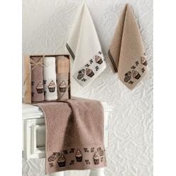Кухонные полотенца махровые жаккард CUPCAKE 30x50 см 1/3