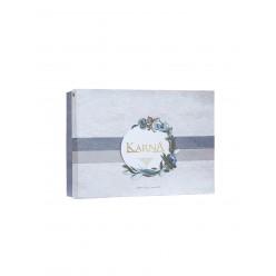 """Скатерть с салфетками """"KARNA"""" гипюром LIANDA (160x220) 1/8"""